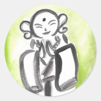Jizo the Monk in Green Stickers