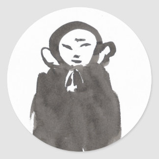 Jizo the Monk in Meditation Stickers