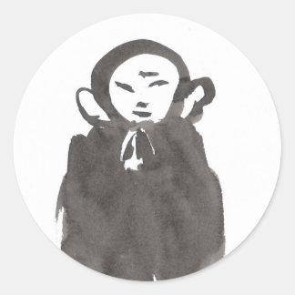 Jizo the Monk in Meditation Stickers