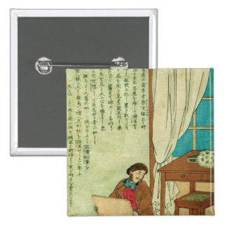 JJ Audubon en un viaje a los disovers de Japón una Pin Cuadrado