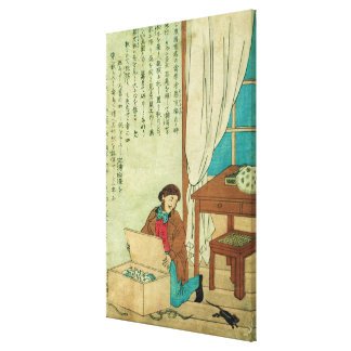 JJ Audubon  on a trip to Japan disovers a rat Canvas Print