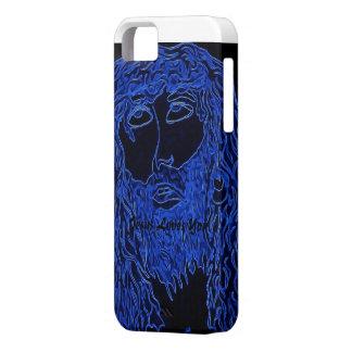 JJesus Jesús azul le ama Funda Para iPhone 5 Barely There