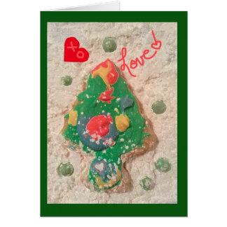 jjhélène Christmas Tree design Greeting Card