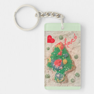 jjhélène Christmas Tree - Rectangular Keychain
