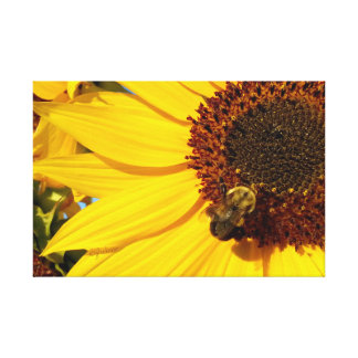 "jjhelene ""Teddy Bear Queen Bee"" Wrapped Canvas Canvas Print"
