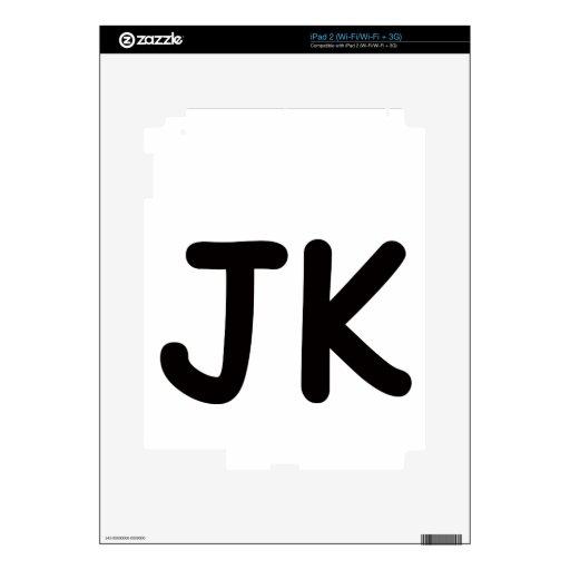 ¡JK!!! CALCOMANÍA PARA iPad 2