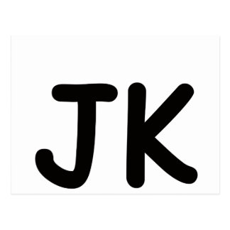 JK!!! POSTCARD