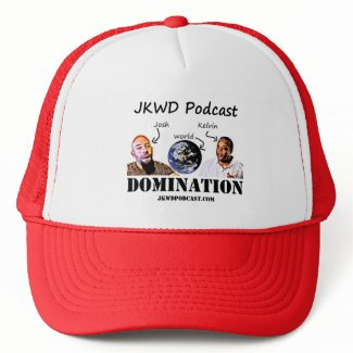 JKWD Podcast Trucker Hat - Red and White