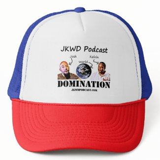 JKWD Podcast Trucker Hat - Red, White and Blue