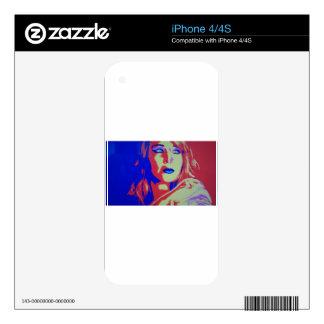 Jlaw Pop Art iPhone 4S Decals