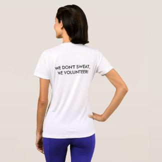 JLSJ We Don't Sweat, We Volunteer T-Shirt