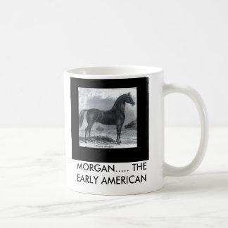 JM2, MORGAN..... THE EARLY AMERICAN CLASSIC WHITE COFFEE MUG