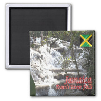 JM - Caídas de Jamaica - del río de Dunn Imán Cuadrado