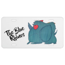 JMC Design Blue Rhinos License plate
