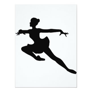 JMO Ballerina Deluxe (Ballet Dancer Silhouette) ~. Card