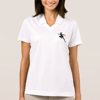 JMO Ballerina Deluxe (Ballet Dancer Silhouette) ~ Polo Shirt
