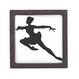 JMO Ballerina Deluxe (Ballet Dancer Silhouette) ~ Premium Trinket Boxes