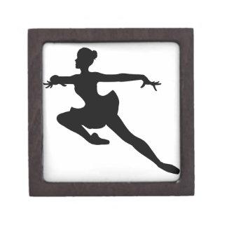JMO Ballerina Deluxe (Ballet Dancer Silhouette) ~ Premium Keepsake Box