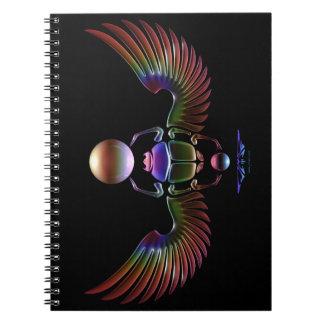 JMR - Escarabajo cristalino - fondo negro Libreta Espiral