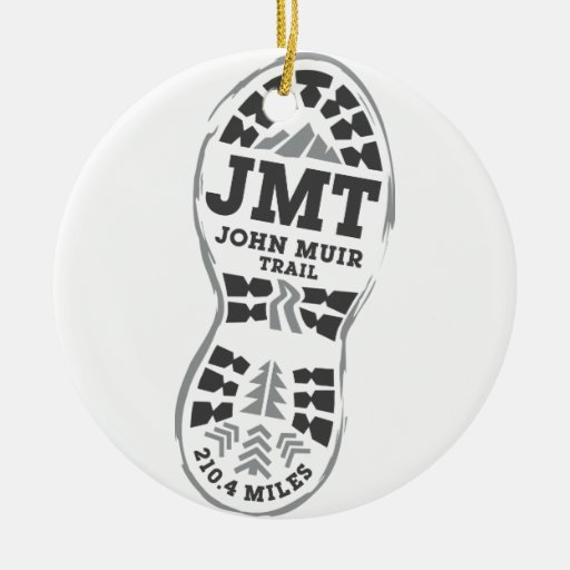 JMT Double-sided Ceramic Round Christmas Ornament
