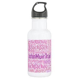 JMT Refillable Water Bottle - Pink