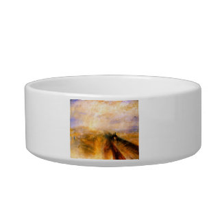 JMW Turner - Rain Steam and Speed the Great Wester Cat Food Bowls