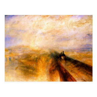 JMW Turner - Rain Steam and Speed the Great Wester Postcard