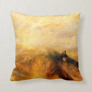 JMW Turner Rain Steam and Speed Throw Pillow