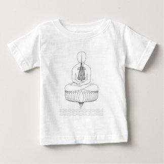 Jnanarnava Meditation Pose with Fire Baby T-Shirt
