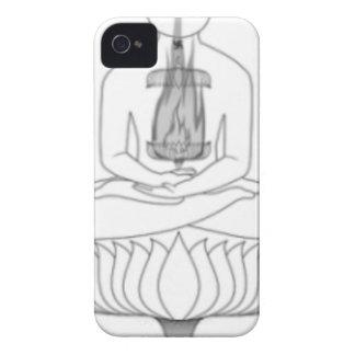 Jnanarnava Meditation Pose with Fire iPhone 4 Case-Mate Case