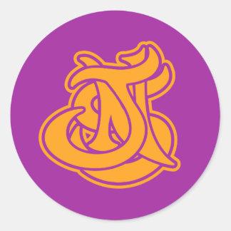 JNS DESIGN Logo LAKERS combo Classic Round Sticker