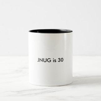 JNUG is 30 Two-Tone Coffee Mug