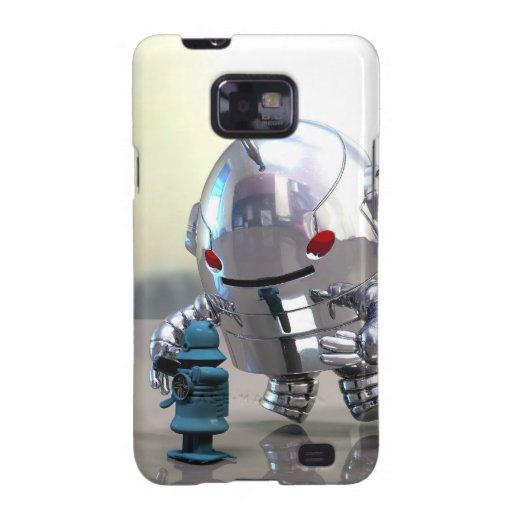 Jo Bot VS Little Blue Bot Galaxy S2 Cases