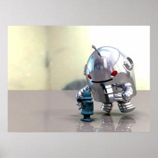 Jo Bot VS Little Blue Bot Print