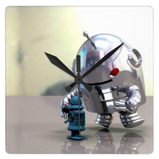 Jo Bot VS Little Blue Bot Wallclock