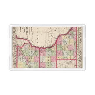 Jo Daviess, Carroll, condados de Whiteside Bandeja Rectangular