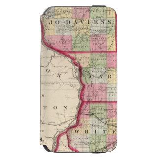 Jo Daviess, Carroll, condados de Whiteside Funda Cartera Para iPhone 6 Watson