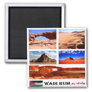 JO - Jordan - Wadi Rum - Mosaic - Collage Magnet
