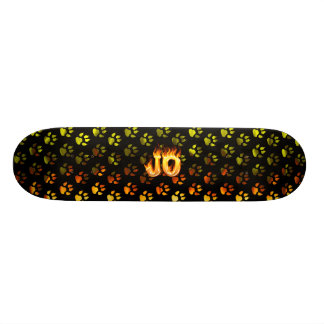 Jo skateboard fire and flames design