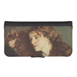 Jo, the Beautiful Irishwoman by Gustave Courbet iPhone 5 Wallet Case
