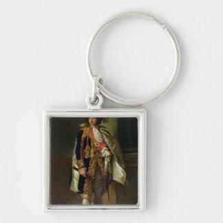 Joachim Murat  1805 Silver-Colored Square Keychain