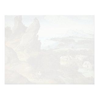 Joachim Patinir- Landscape with the Flight Custom Letterhead