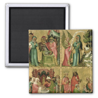 Joachim's Sacrifice, the Circumcision of 2 Inch Square Magnet