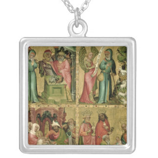 Joachim's Sacrifice, the Circumcision of Square Pendant Necklace