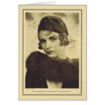 Joan Bennett 1932 vintage portrait Greeting Cards