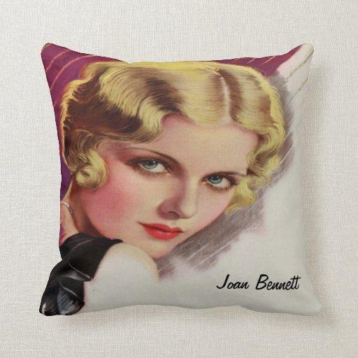Joan Bennett, actor de cine famoso Cojines