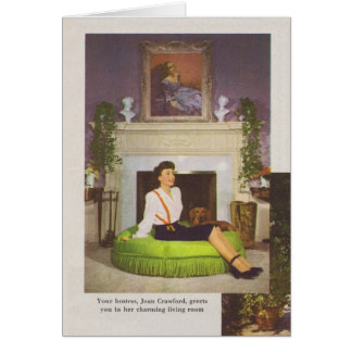 Joan Crawford Brentwood Home 1944 Greeting Cards