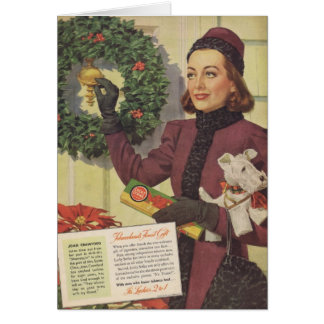 Joan Crawford Christmas Ad 1937 Cards