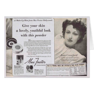 Joan Crawford Face Powder Ad Cards