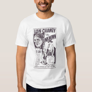 Joan Crawford Lon Chaney THE UNKNOWN film ad T-shirt